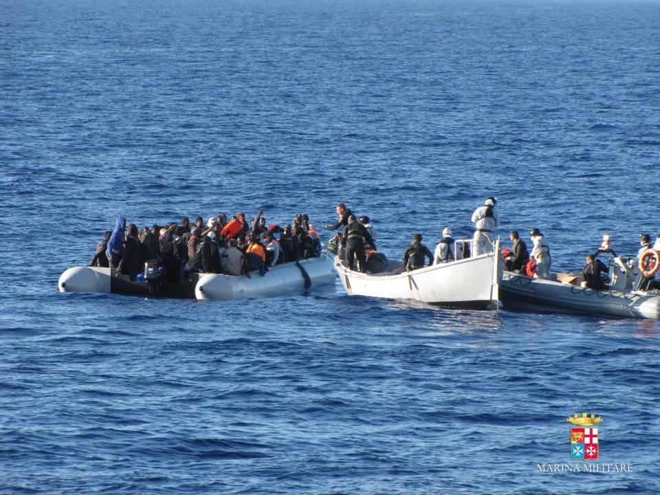 Marina Militare: OLTRE 2500 MIGRANTI SOCCORSI IN MENO DI 24 ORE