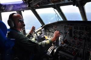 Dalla cabina di pilotaggio dell'Atlantic