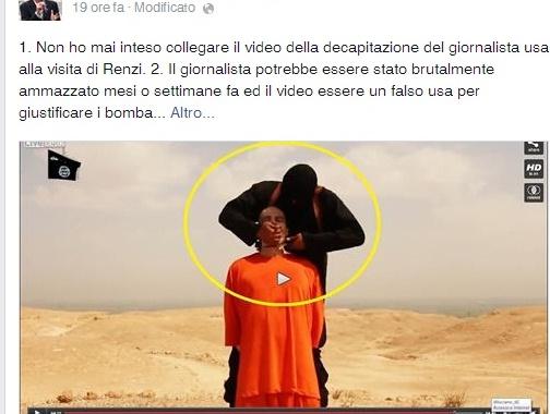 """Davide Bono complottista? """"Perché il video di Foley è uscito quando Renzi era in Iraq?"""""""