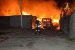 Vasto incendio ex Mercato Ortofrutticolo Catania