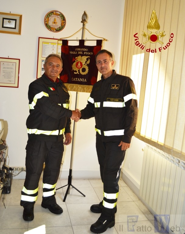 Il dott. ing. Giuseppe VERME nuovo  Comandante Provinciale dei Vigili del fuoco di Catania