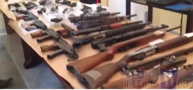 Maxi sequestro di armi a Catania –