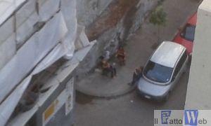 dai balconi dei residenti di giorno -via Pistone Ct