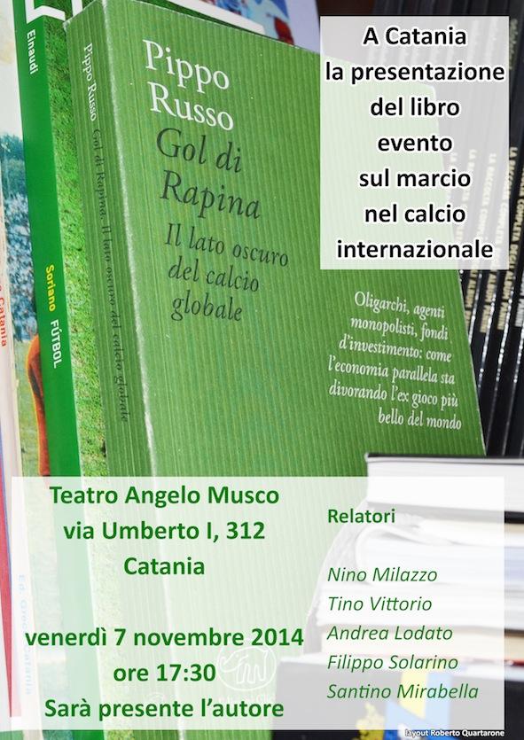 A Catania la presentazione del libro evento sul marcio nel calcio internazionale