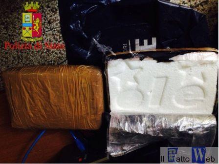Catania, la Polizia di Stato arresta corriere della della droga