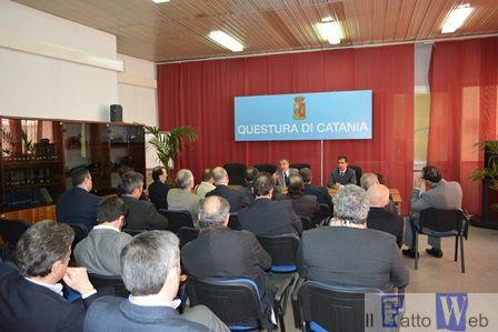 Il Questore di Catania incontra i rappresentanti delle Associazioni  antiracket