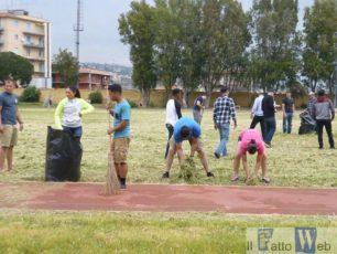Marines di Sigonella sbarcano a Picanello per riqualificare il Campo Scuola