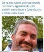 Giornalismo Catanese, Archiviata la Querela  Cantarella e Benanti esultano