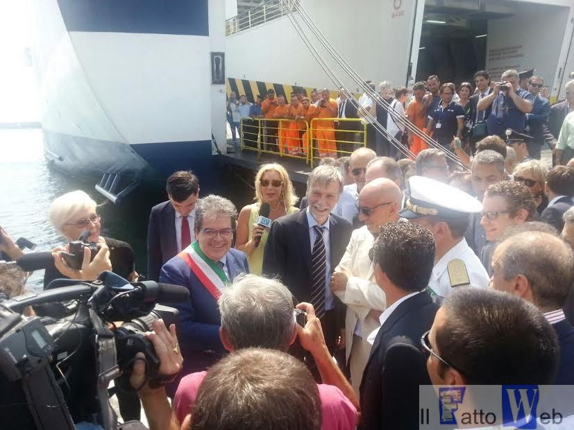 Bianco e Delrio inaugurano darsena e visitano metropolitana