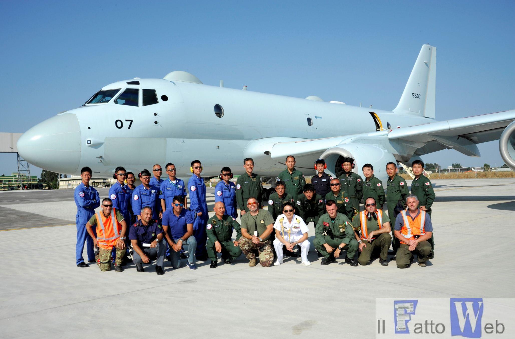 La Japan Defense Force atterra a Sigonella. La Base Siciliana dell'Aeronautica Militare da supporto ai velivoli P1 Giapponesi