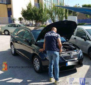 Traffico illecito di auto: la P.S. recupera un veicolo preso a noleggio in Germania pronto ad essere imbarcato per Malta