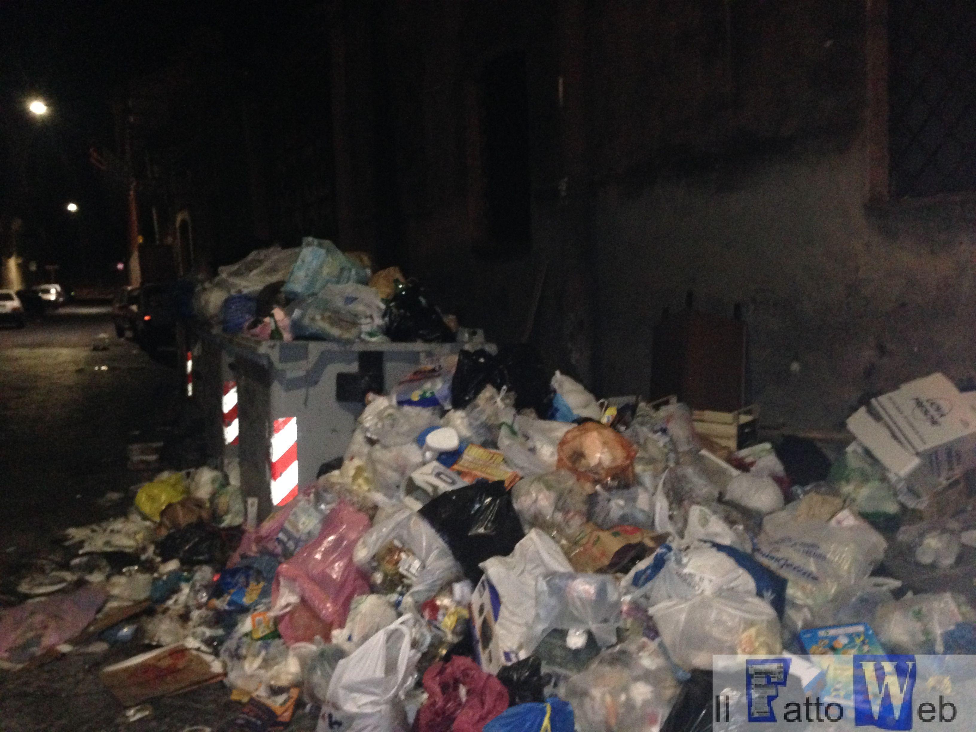 Le vie di Catania invase dall'immondizia e monumenti in stato di degrado