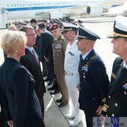 Il Ministro Pinotti in visita alla Base Aerea di Sigonella presso il 41° Stormo ha incontrato il Capo del Pentagono USA Ashton Carter