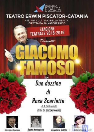 """Debutto """"Due dozzine di rose scarlatte"""" al Piscator di Catania"""