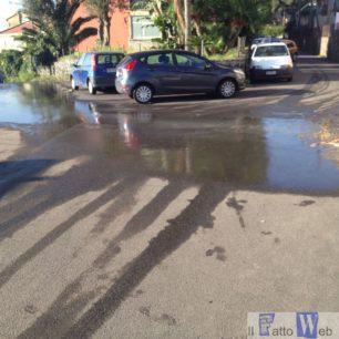 Via Emanuele Infantino(Ct): perdita di liquami maleodoranti dalle condutture