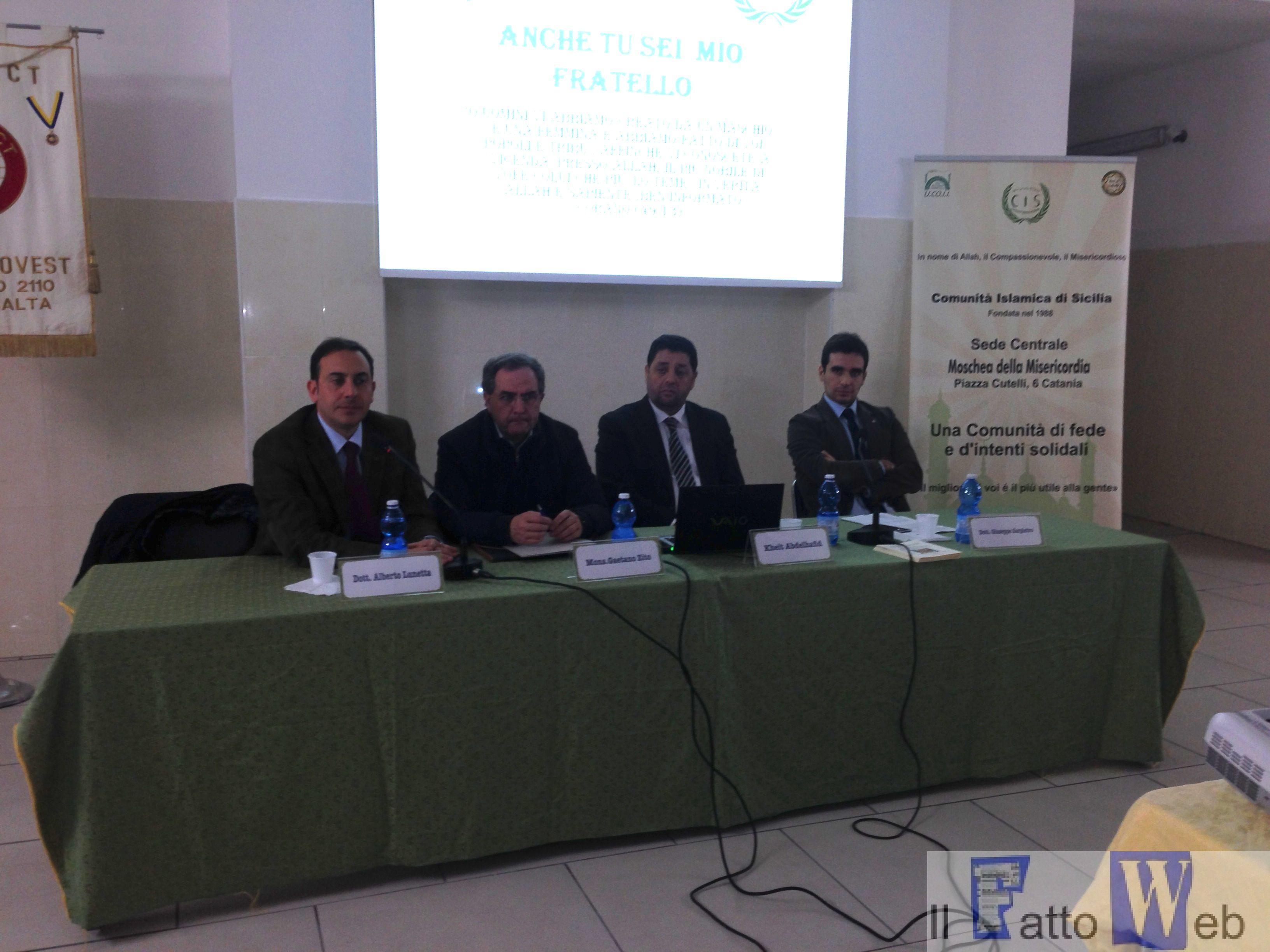 """""""Dialogo islamico-cristiano"""", un incontro organizzato dal Rotaract Catania Ovest. Due religioni a confronto"""