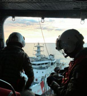 Guardia Costiera : evacuazione medica effettuata da elicottero del 2° Nucleo Aereo di Catania