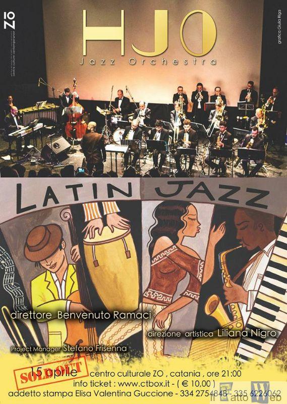L'HJO Jazz Orchestra dedica una serata alla musica sudamericana a favore degli allievi della Falcone e Borsellino