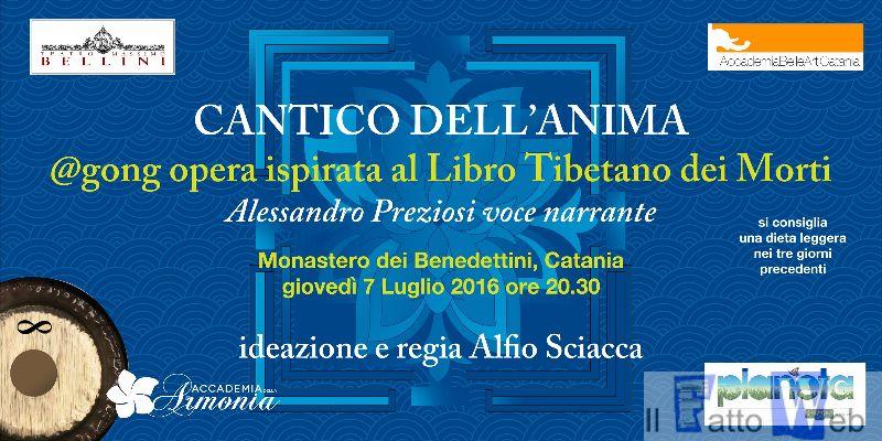 """Lunedì 4 luglio a Palazzo Vanasco il """"Cantico dell'Anima"""", un viaggio emozionante e vibrazionale"""