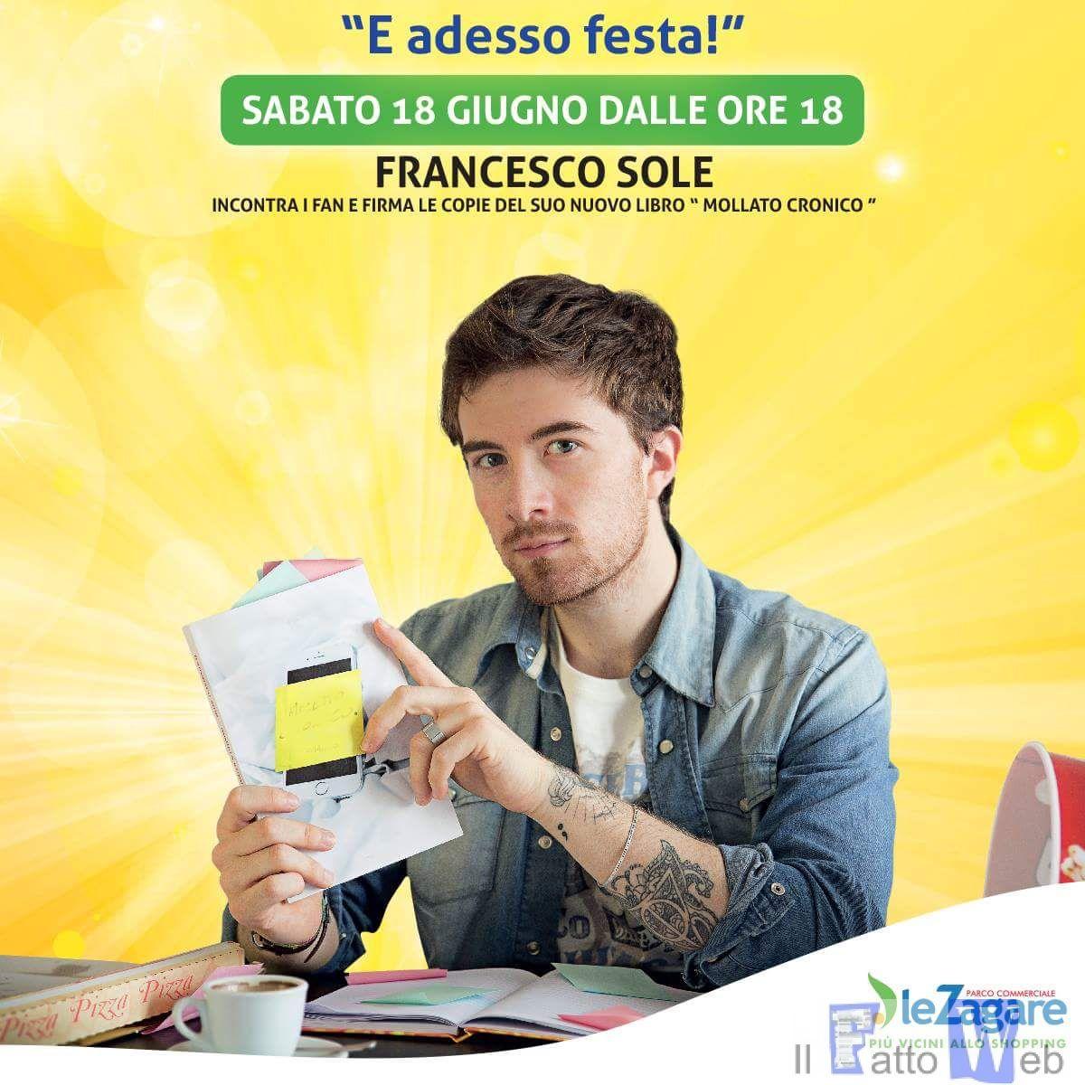 """Francesco Sole al Parco Commerciale """"Le Zagare"""" di San Giovanni La Punta"""