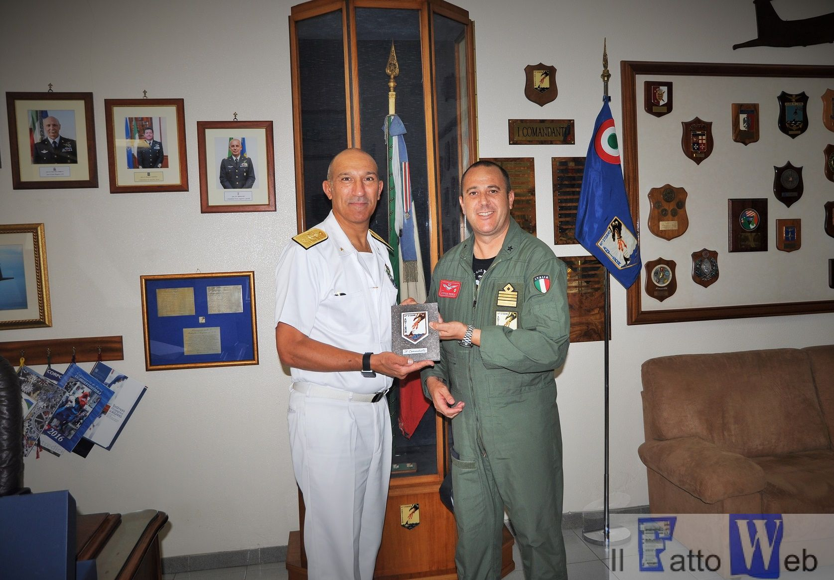Il Force Commander di EUNAVFOR MED in visita a Sigonella