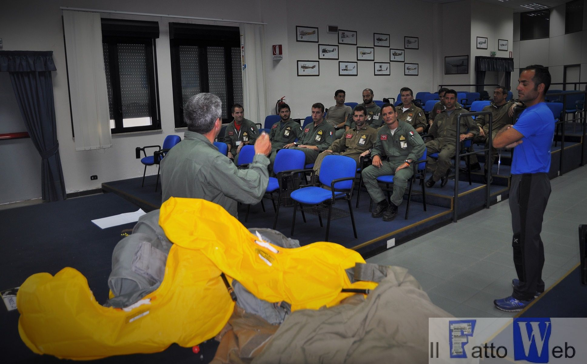 Durante il briefing