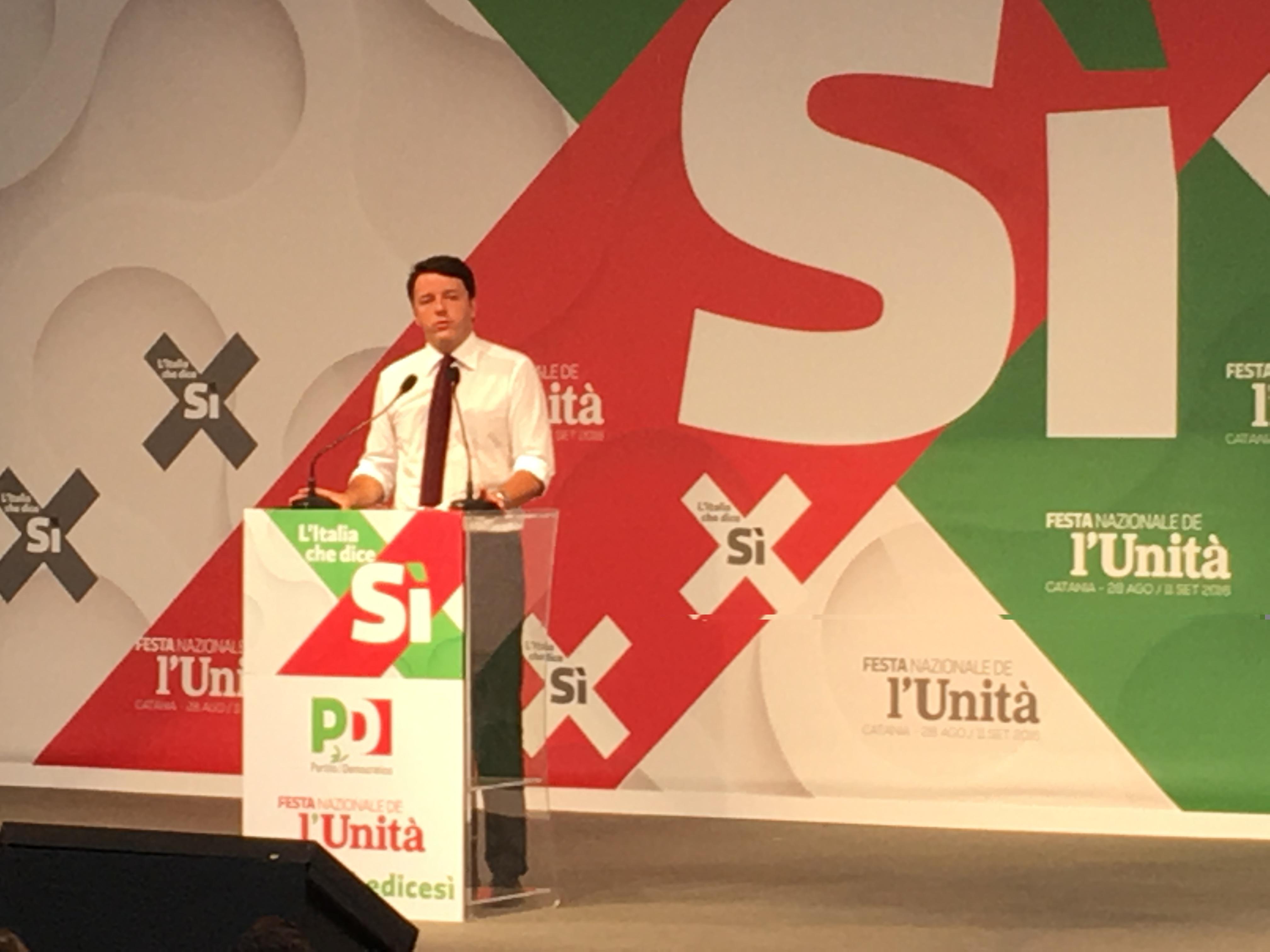 Matteo Renzi chiude la Festa dell'Unità a Catania – VIDEO