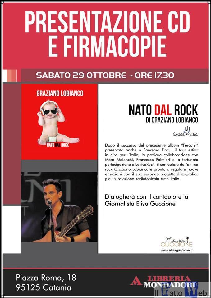 """Graziano Lobianco presenta il suo secondo album """"Nato dal Rock"""""""