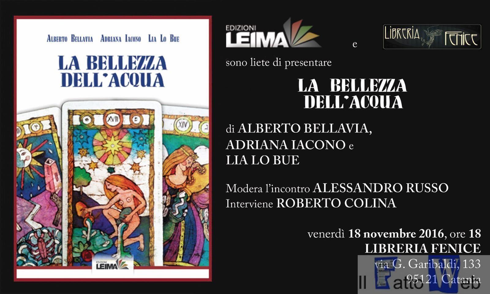"""""""La Bellezza Dell'Acqua"""" un libro omaggio al ricordo di tutte le vittime della mafia"""