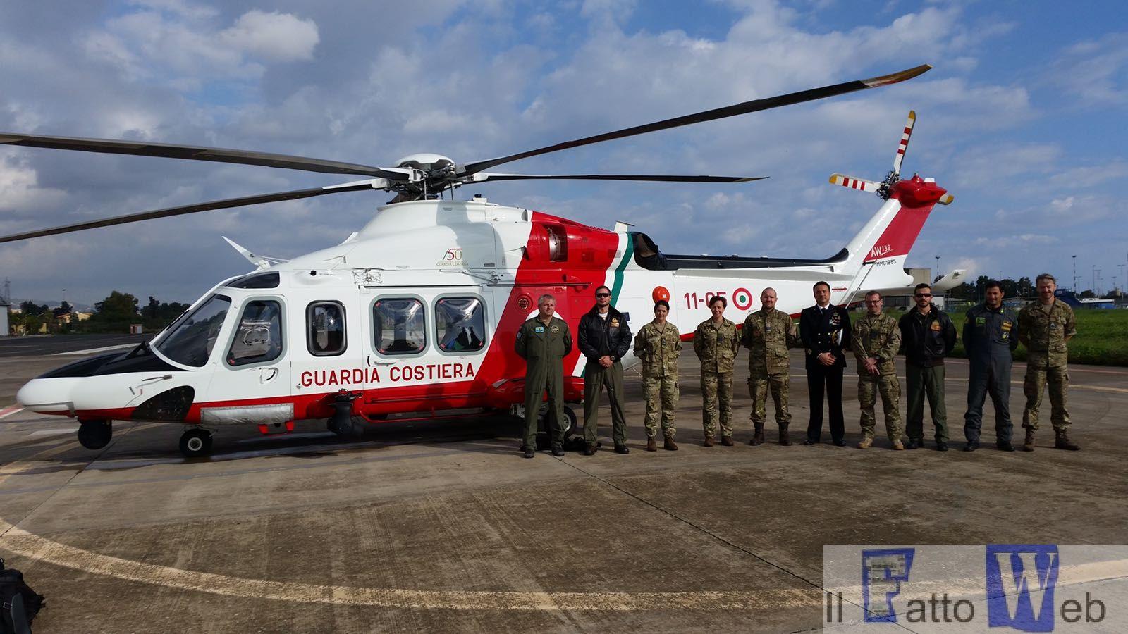 Catania: delegazione dell'Aeronautica Militare danese in visita ai Reparti Volo della Guardia Costiera.