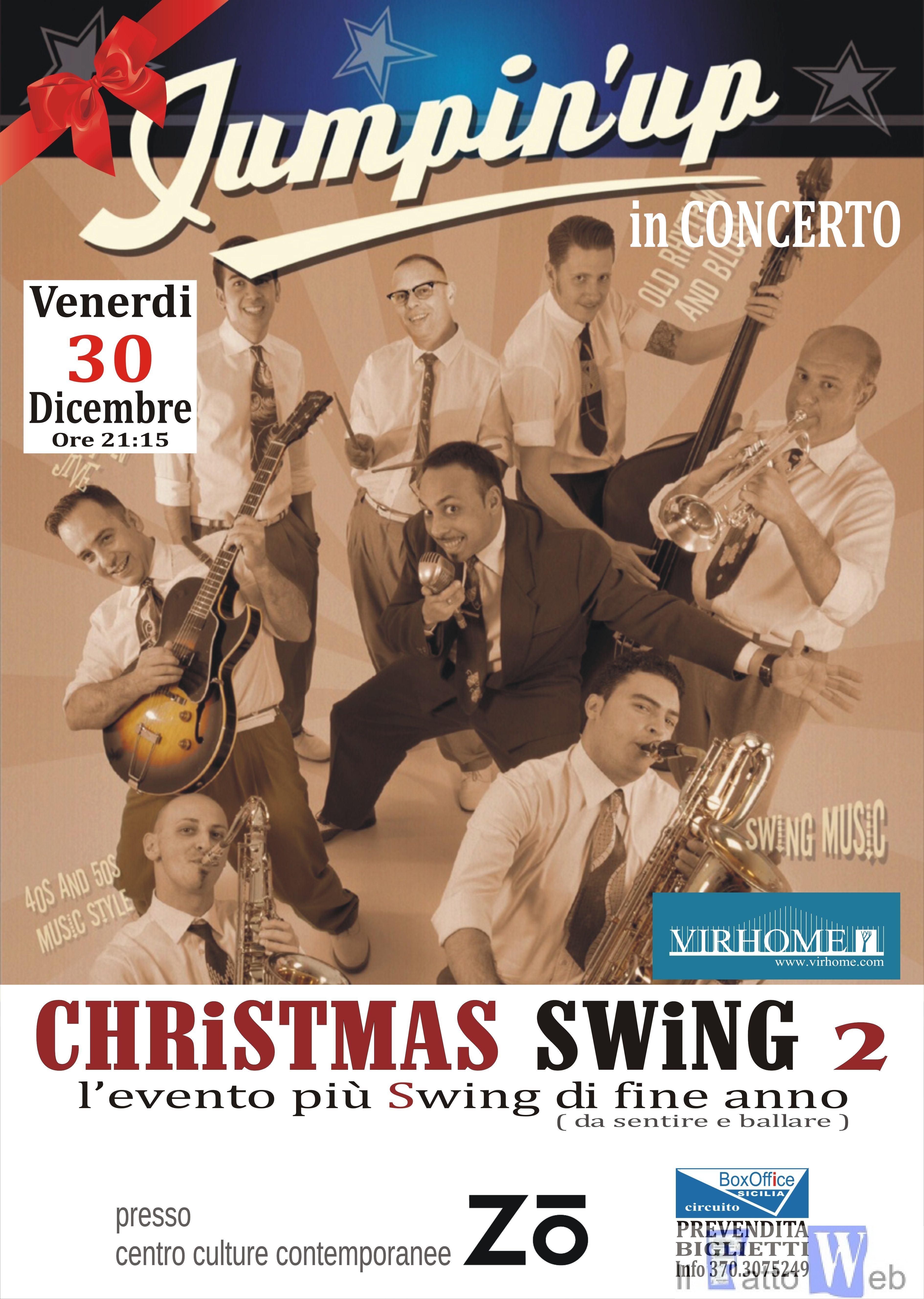 """LO SWING è SERVITO, JUMPIN 'UP in Concerto a CATANIA"""