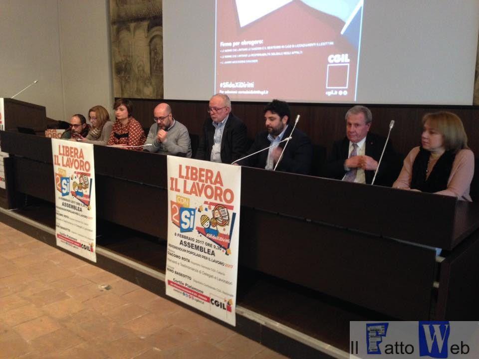 """CGIL Oggi a Catania l'assemblea """"Libera il lavoro. Con #2Si tutta un'altra Italia"""""""