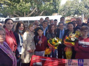 Contro la violenza alle donne, Panchina Rossa a San Giovanni Galermo