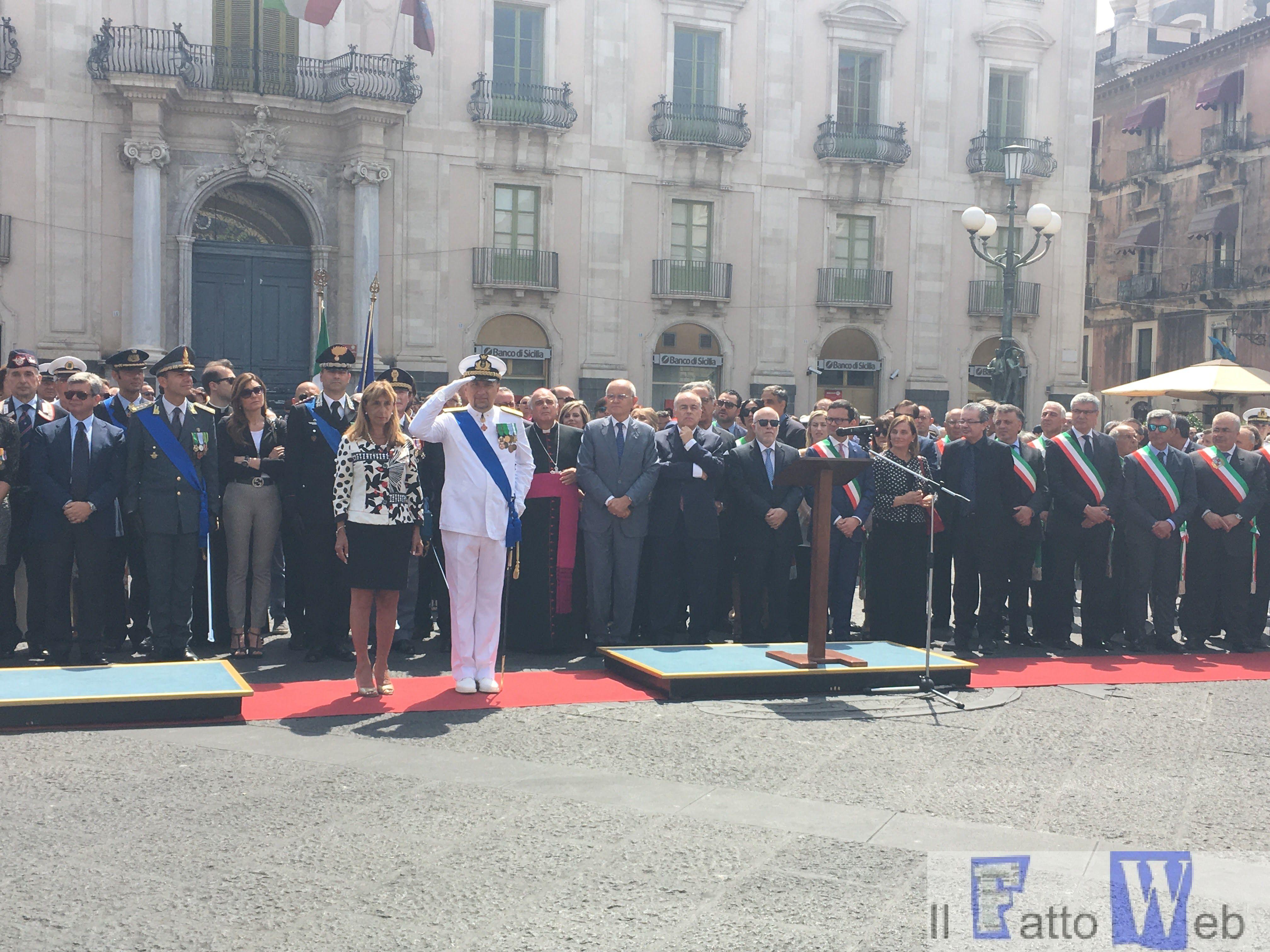 In Piazza Università si festeggia la Repubblica Italiana