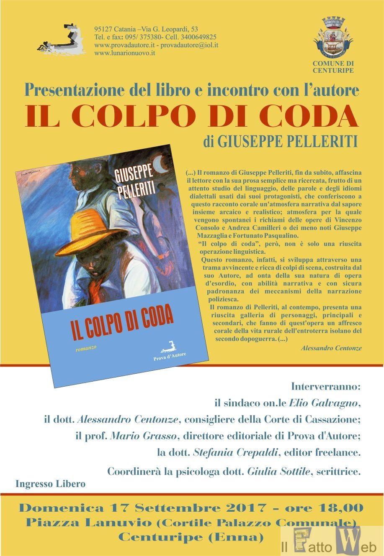 Libri: Il colpo di coda di Giuseppe Pelleriti, avvincente affresco della Sicilia del dopoguerra