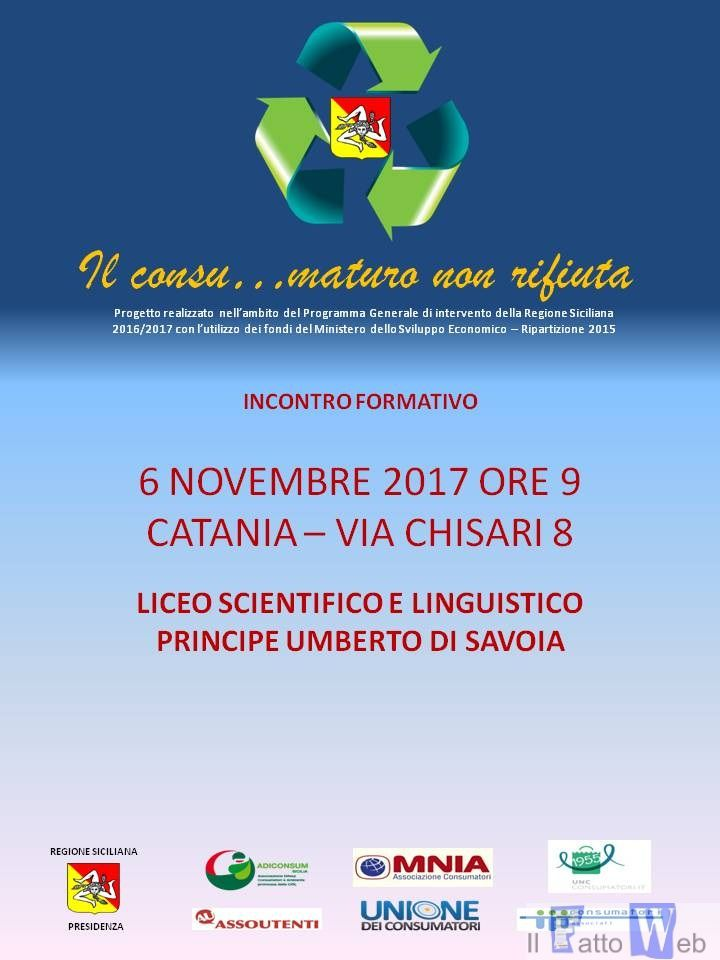 """A Catania torna """"Il consu…maturo non rifiuta"""""""