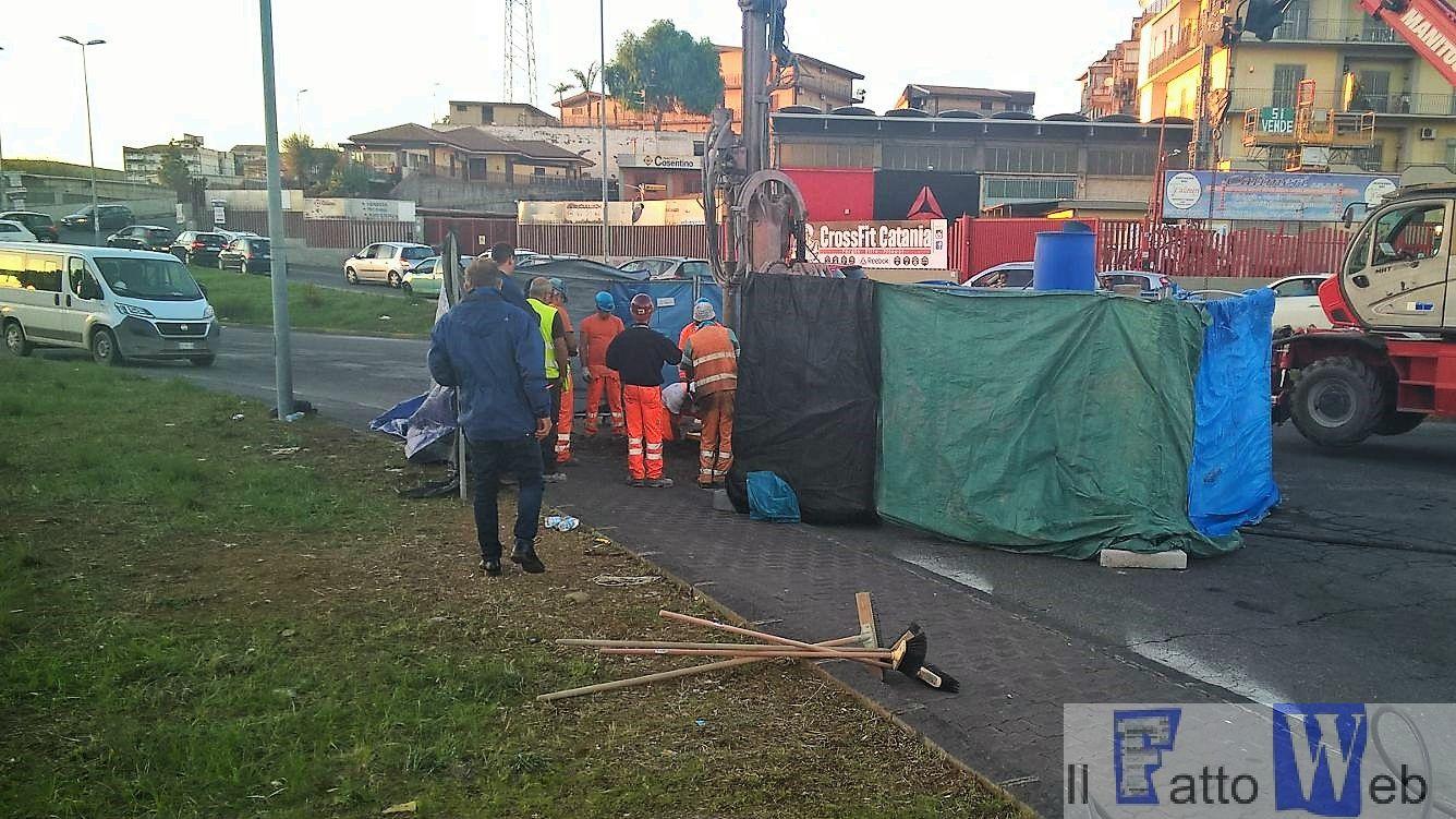 Circonvallazione: file dopo chiusura rotatoria Nesima rischi cedimenti cantiere Metro