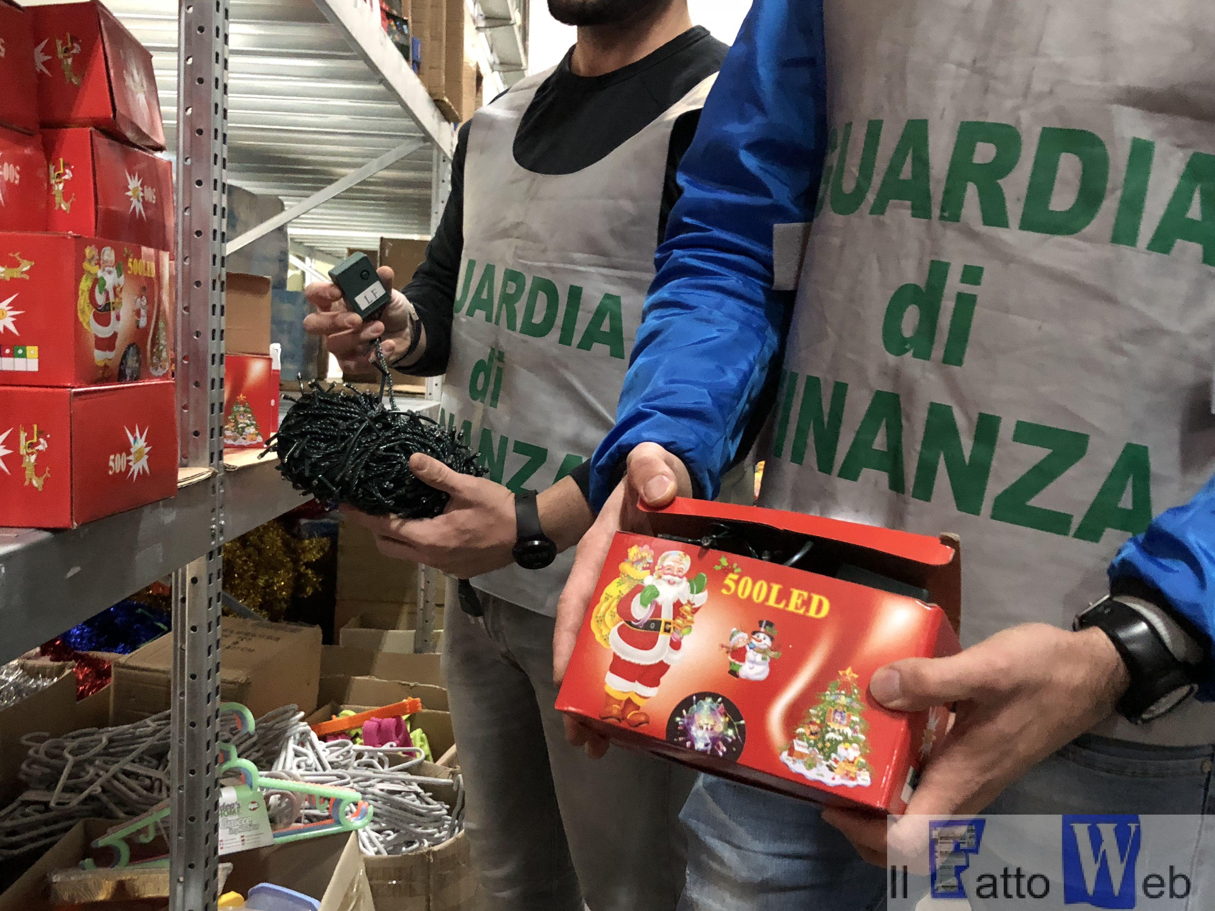 A Catania la Guardia di Finanza sequestra un milione e mezzo di prodotti elettrici illegali