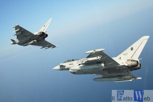 Due Eurofighter hanno intercettato un velivolo francese