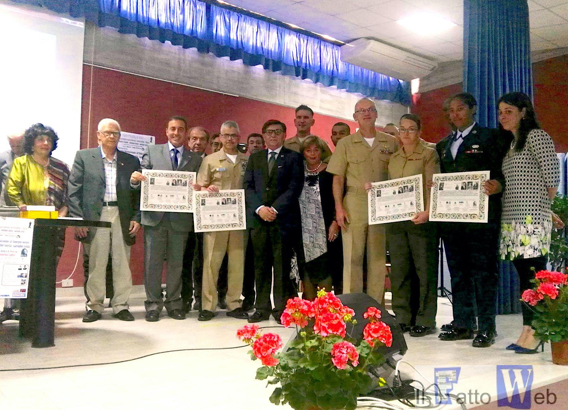 Militari americani di Sigonella ricevono il Premio Livatino-Saetta per il volontariato civico