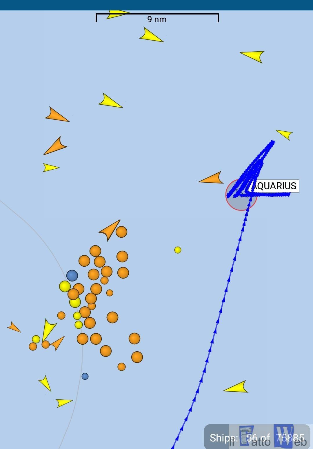 Nave Aquarius tra Sicilia e Malta*** avverse condizioni meteo rotta verso la sardegna