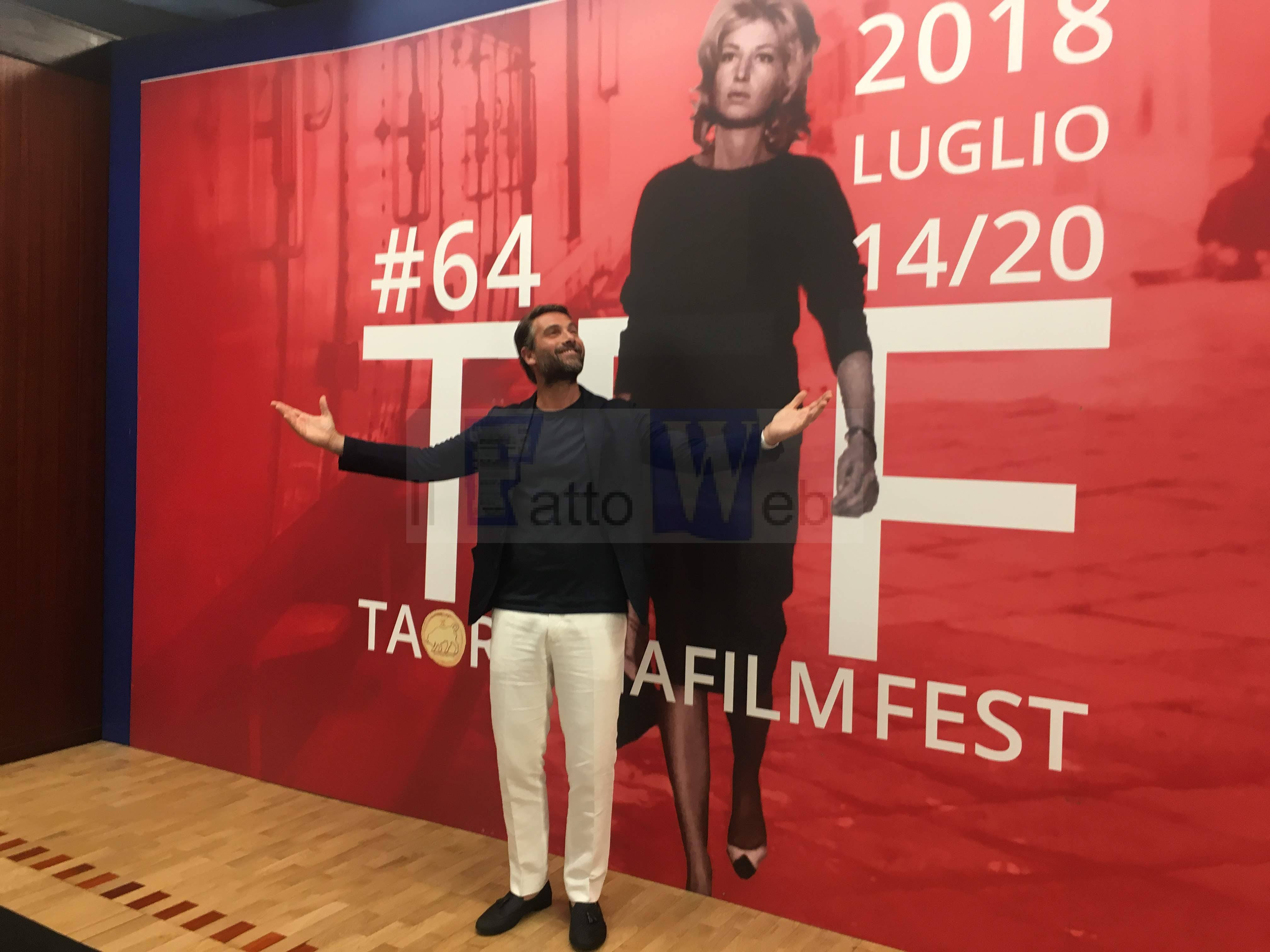 L'attore Luca Calvani al Taormina FilmFest