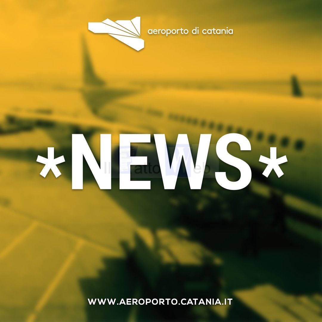 L'Aeroporto di Catania rimane chiuso fino alle ore 11 di domani
