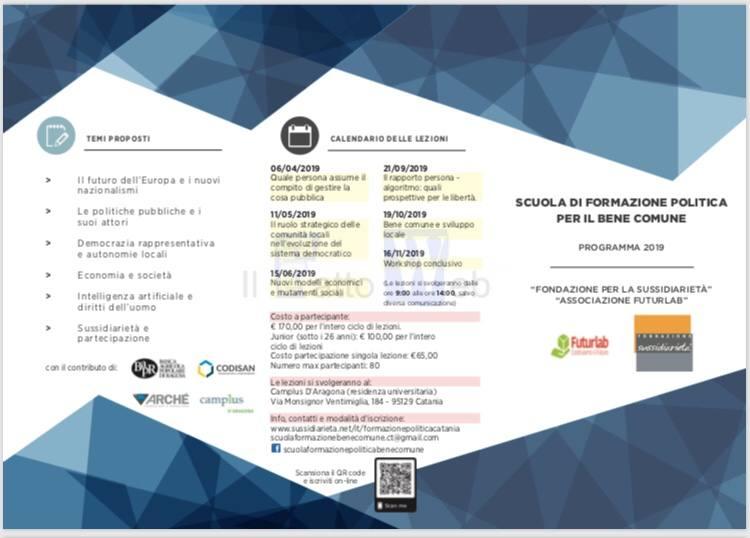 """La Fondazione per la sussidiarietà e l'Associazione Futurlab promuovono la """"Scuola di formazione politica per il bene comune"""""""