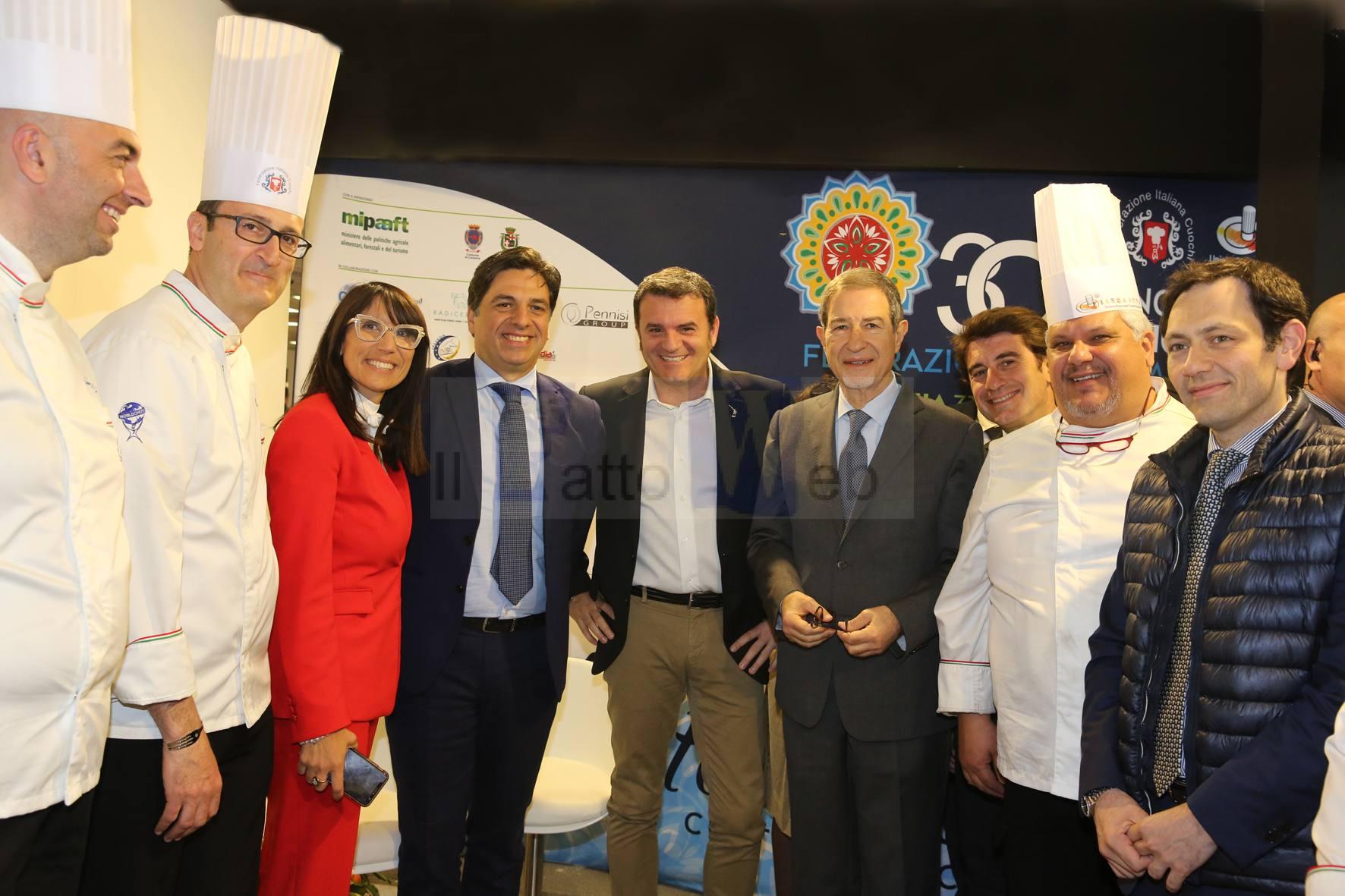 Giornata siciliana per il ministro Gian Marco Centinaio,ospite al Cooking Fest