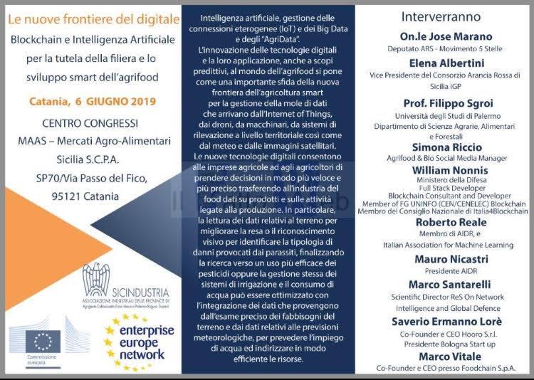 Il 6 giugno al Centro congressi MAAS di Catania si parlerà di nuove frontiere digitali per  lo sviluppo smart dell'agrifood