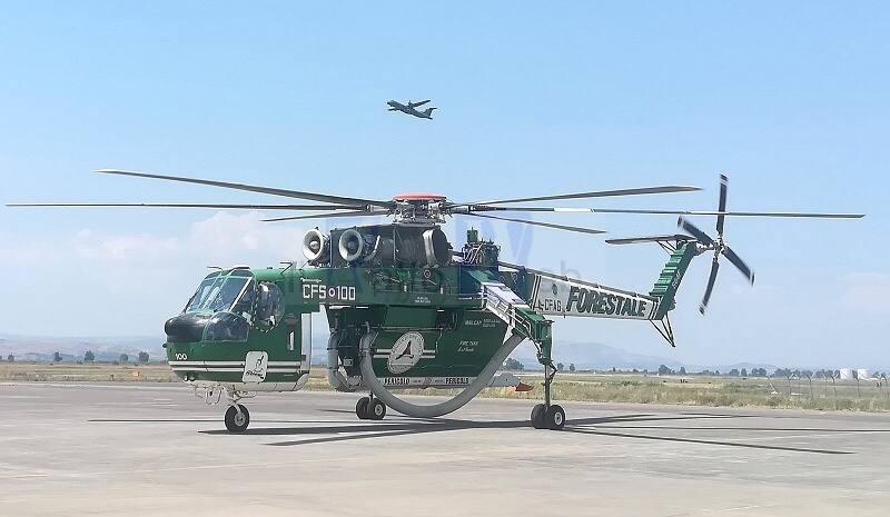 Emergenza incendi, l'Aeronautica Militare fornisce supporto logistico ed operativo