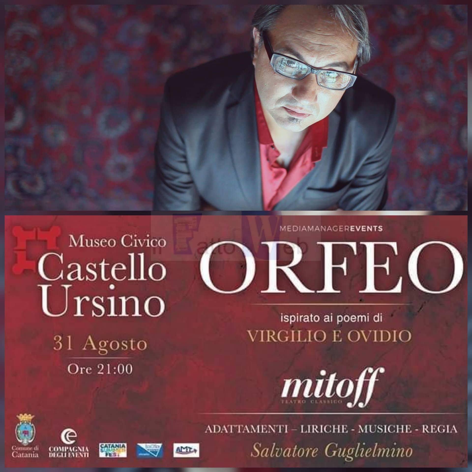 """Al Castello Ursino """"Orfeo"""" inaugura """"Mitoff"""" la rassegna dedicata al teatro classico"""