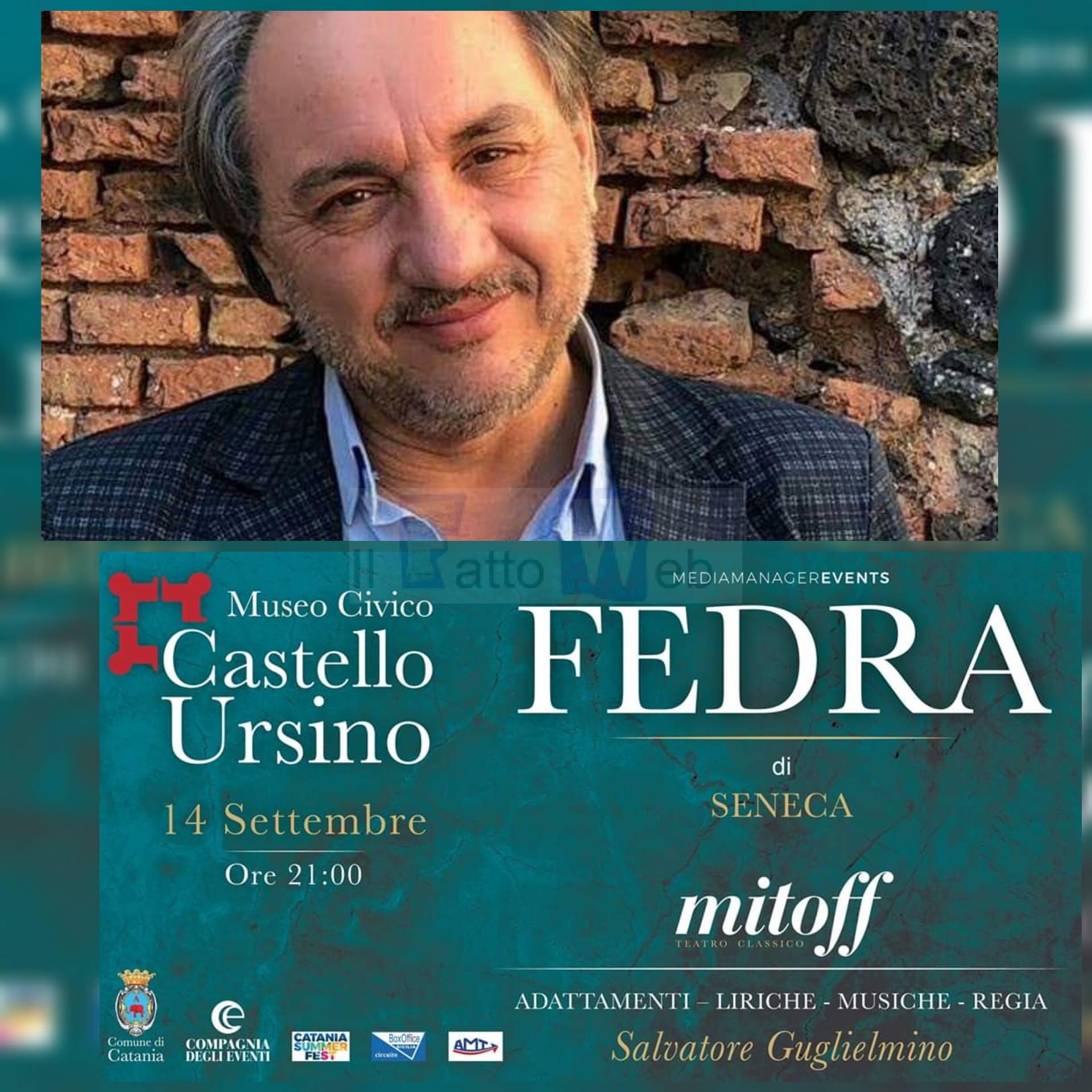 """Sabato al Castello Ursino il secondo appuntamento dell'rassegna """"Mitoff""""con """"Fedra"""""""