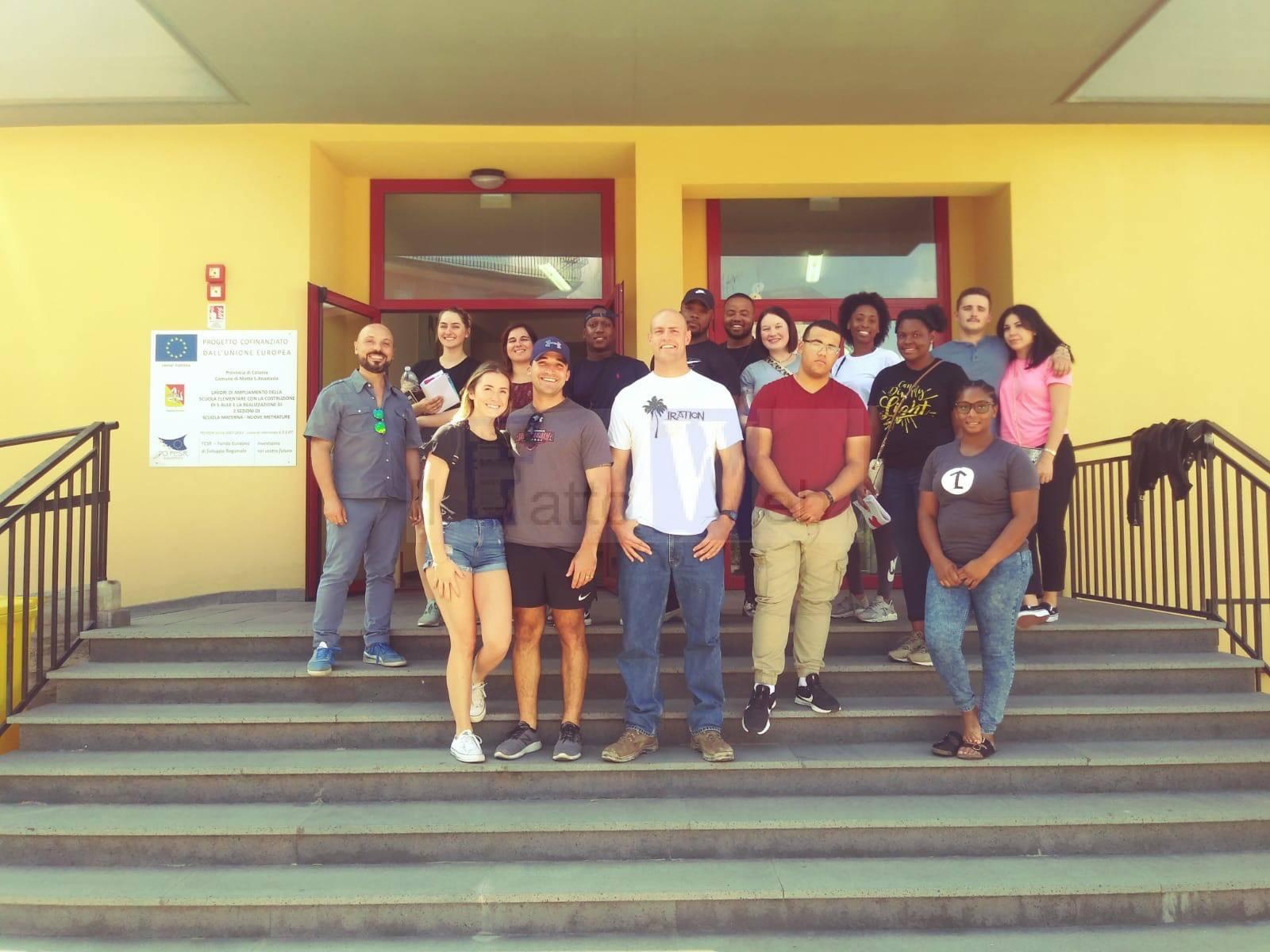 Scambio interculturale alla scuola di Motta con i militari americani di Sigonella
